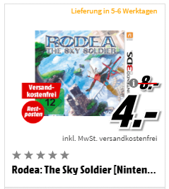 Rodea: The Sky Soldier [Nintendo 3DS]
