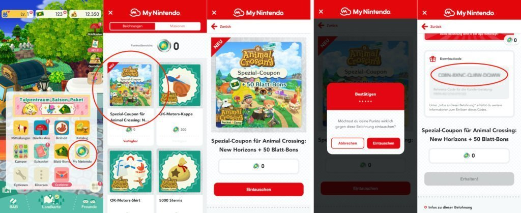 Ablauf in der Animal Crossing: Pocket Camp-App